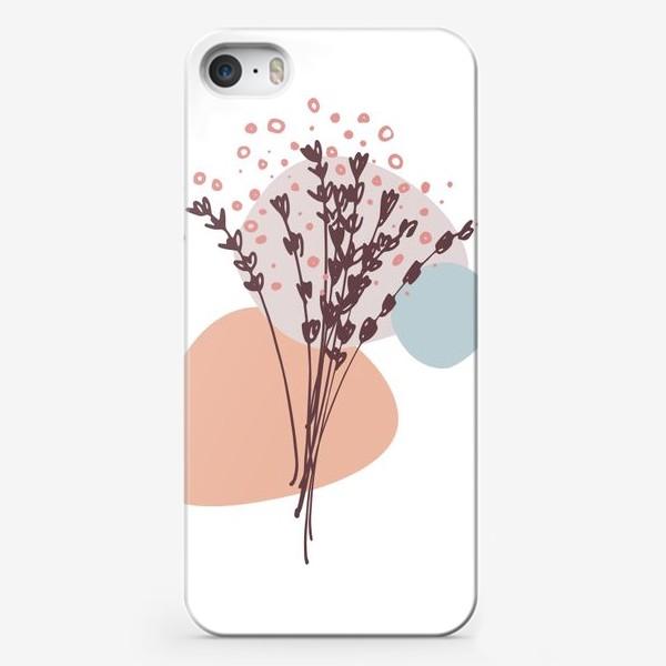 Чехол iPhone «Цветы абстракция»