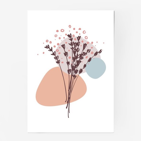 Постер «Цветы абстракция»