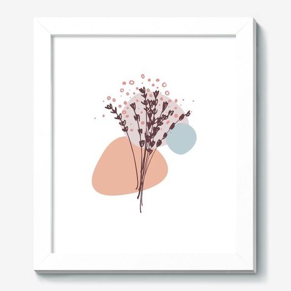 Картина «Цветы абстракция»