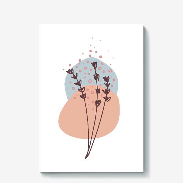 Холст «Цветы абстракция 2»