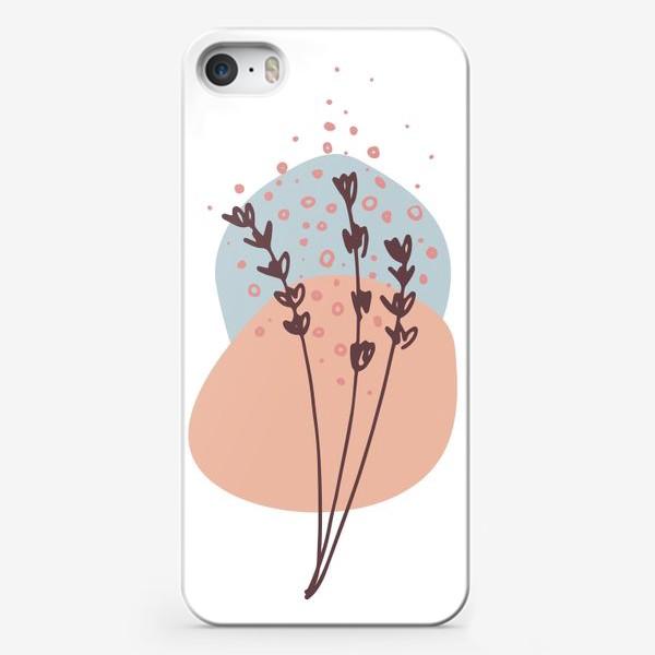 Чехол iPhone «Цветы абстракция 2»