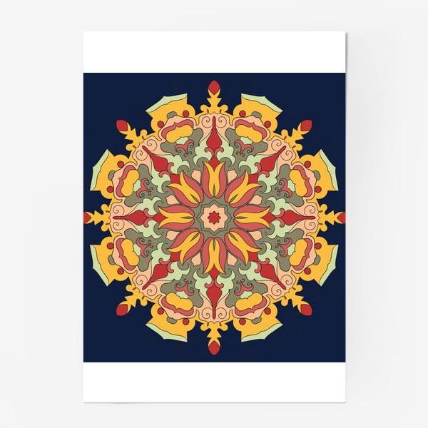 Постер «Круговой орнамент в восточном стиле»