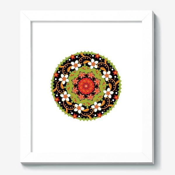 Картина «Цветочный узор в русском народном стиле»