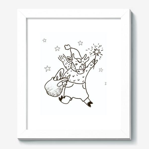 Картина «Бык с авоськой и бенгальским огнем »