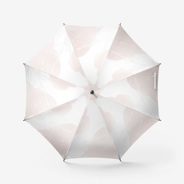 Зонт «Белые веточки нежные акварельные пятна на белом»