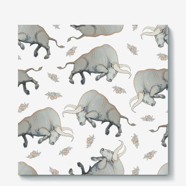 Холст «Bulls pattern»