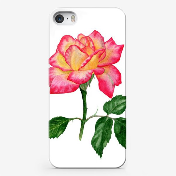 Чехол iPhone «Розовая роза»