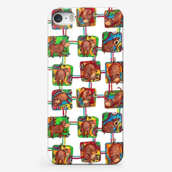 Чехол iPhone «Быки 2021. Паттерн»