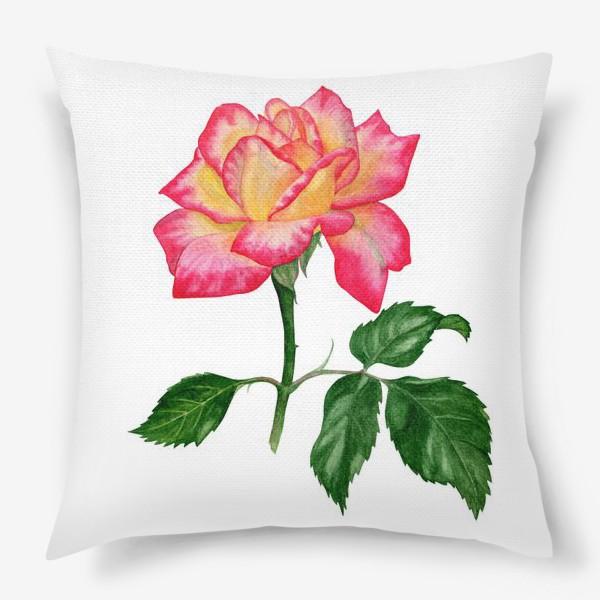 Подушка «Розовая роза»