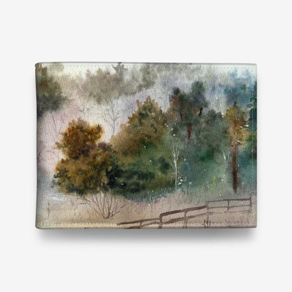 Кошелек «Акварельный пейзаж, сосновый лес »