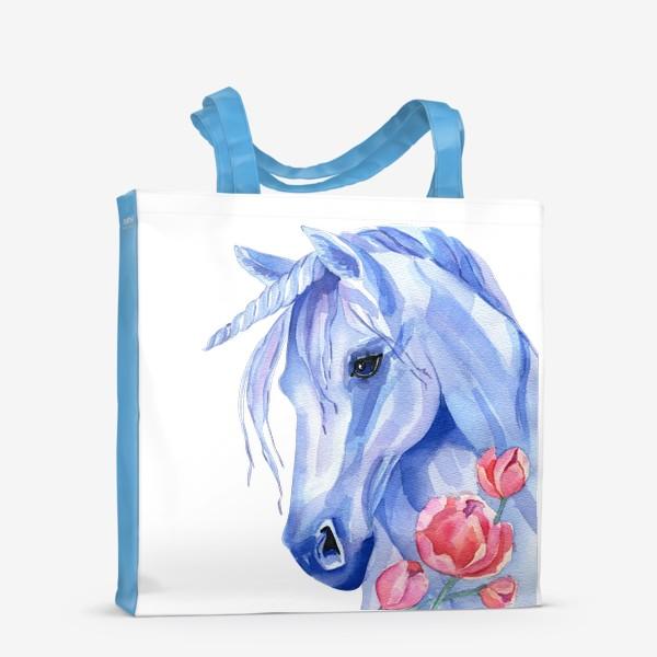 Сумка-шоппер «голубой единорог»
