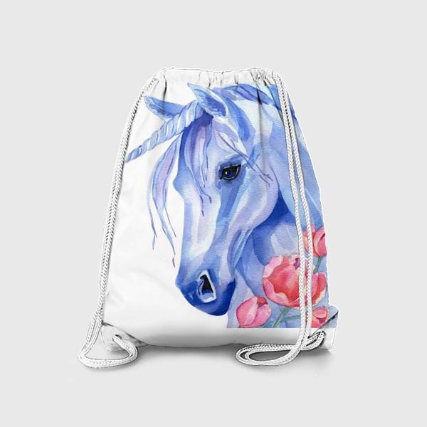 Рюкзак «голубой единорог»