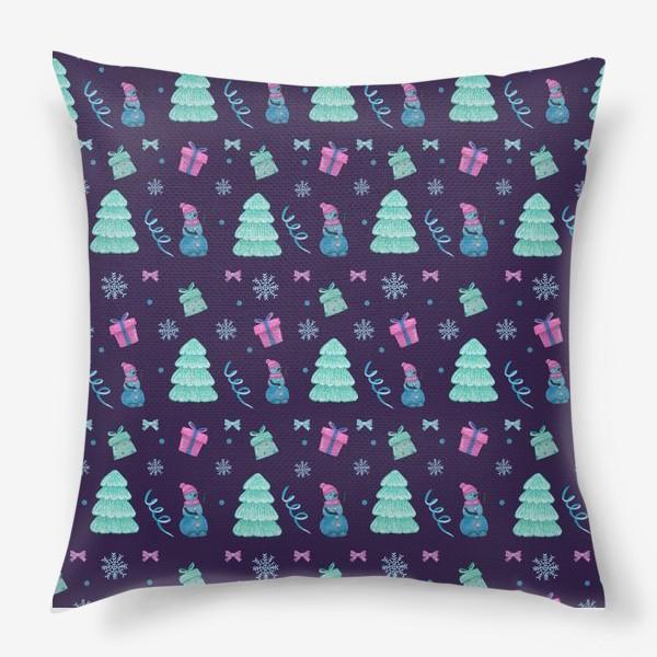 Подушка «Снеговички»