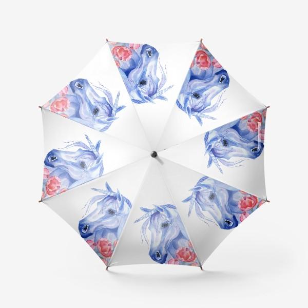 Зонт «голубой единорог»