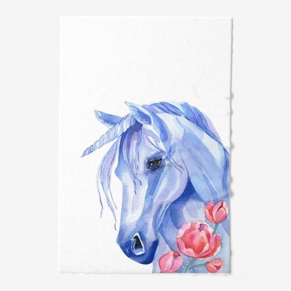 Полотенце «голубой единорог»