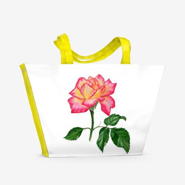 Пляжная сумка «Розовая роза»