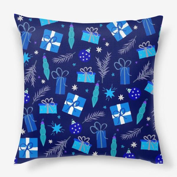 Подушка «новогодние подарки»