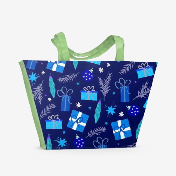 Пляжная сумка «новогодние подарки»