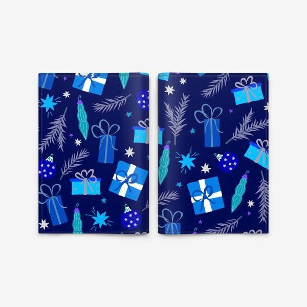 Обложка для паспорта «новогодние подарки»