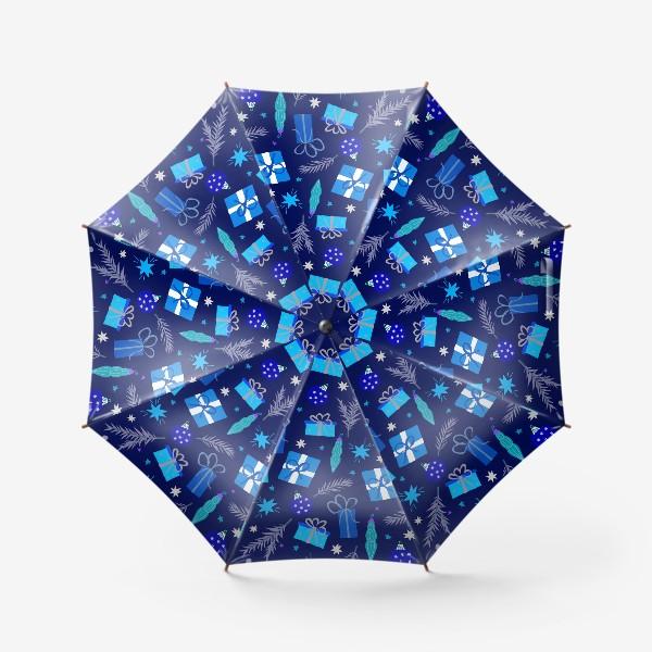 Зонт «новогодние подарки»