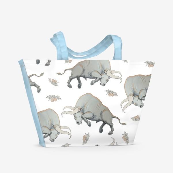 Пляжная сумка «Bulls pattern»