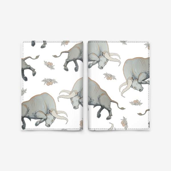Обложка для паспорта «Bulls pattern»