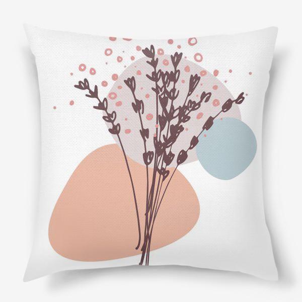 Подушка «Цветы абстракция»