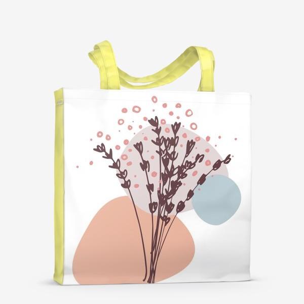 Сумка-шоппер «Цветы абстракция»