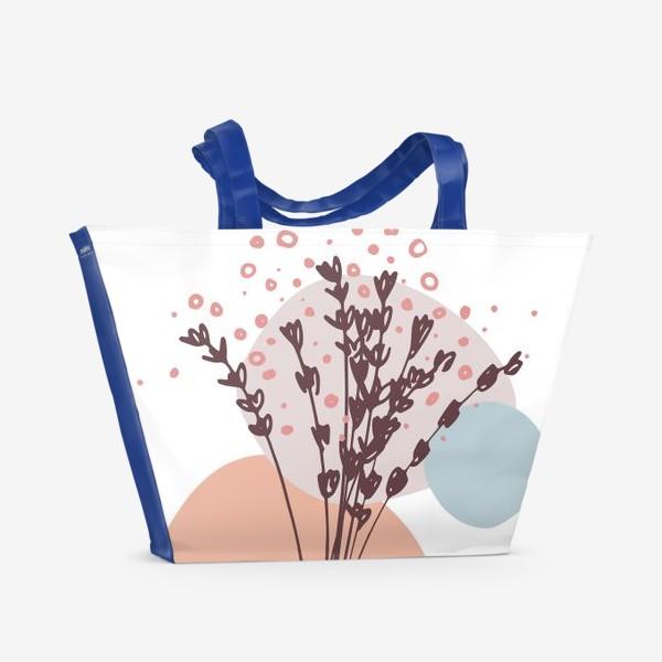 Пляжная сумка «Цветы абстракция»
