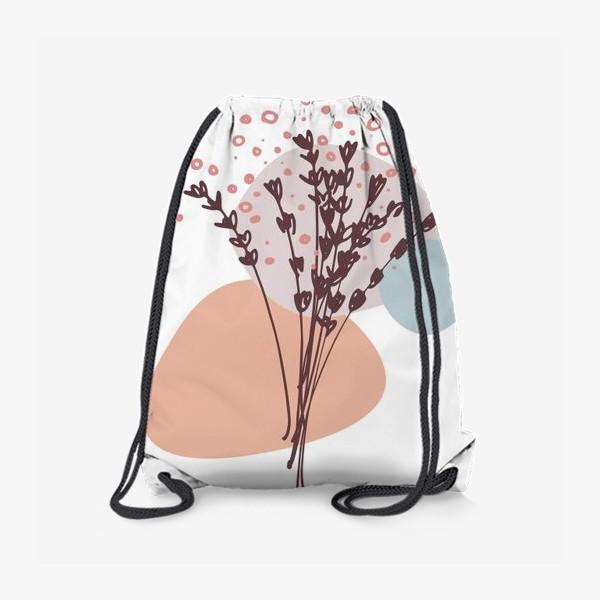 Рюкзак «Цветы абстракция»