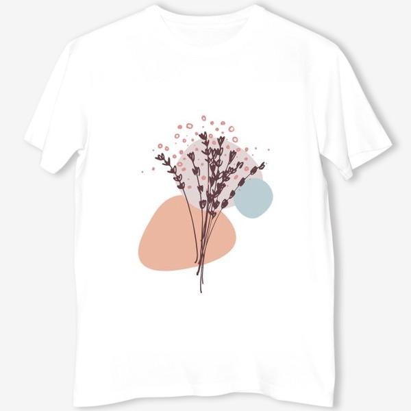 Футболка «Цветы абстракция»