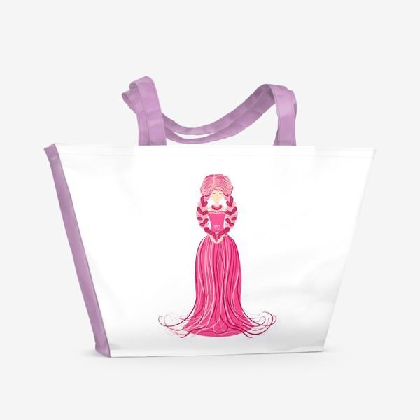 Пляжная сумка «Знак зодиака Дева, женщина с косами»