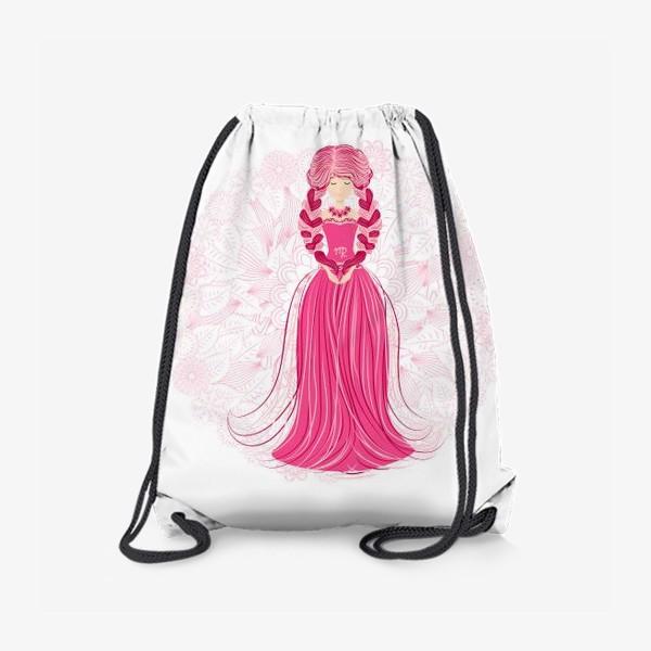 Рюкзак «Знак зодиака Дева и цветочная мандала»
