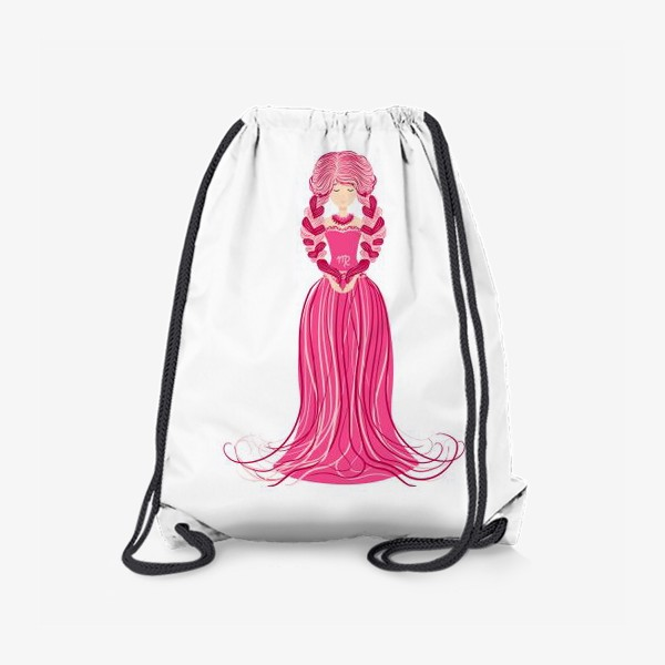 Рюкзак «Знак зодиака Дева, женщина с косами»