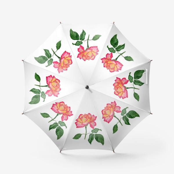 Зонт «Розовая роза»