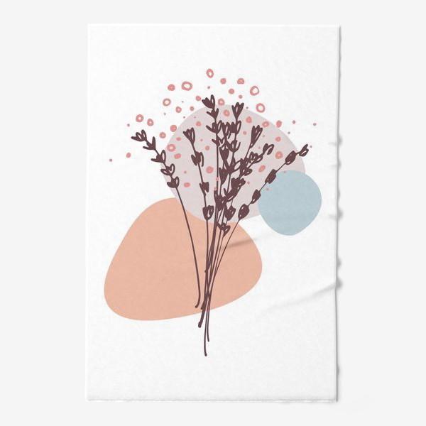 Полотенце «Цветы абстракция»