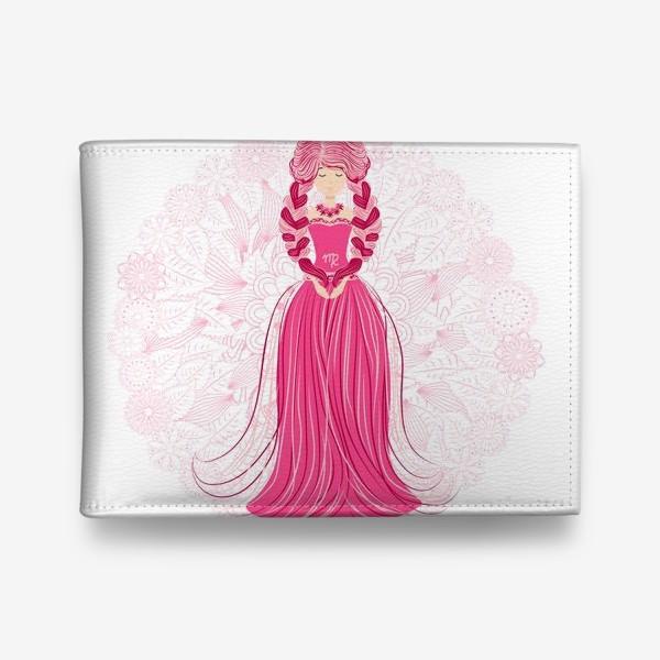 Кошелек «Знак зодиака Дева и цветочная мандала»
