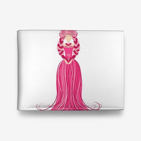 Кошелек «Знак зодиака Дева, женщина с косами»