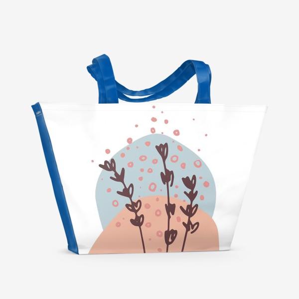 Пляжная сумка «Цветы абстракция 2»