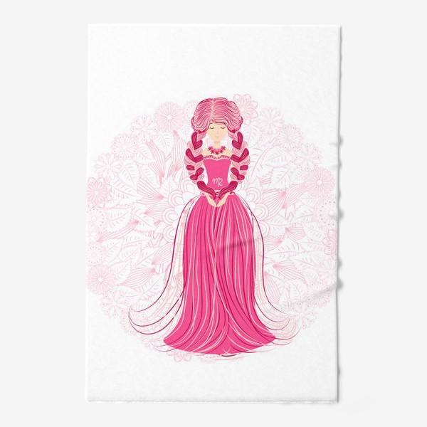 Полотенце «Знак зодиака Дева и цветочная мандала»