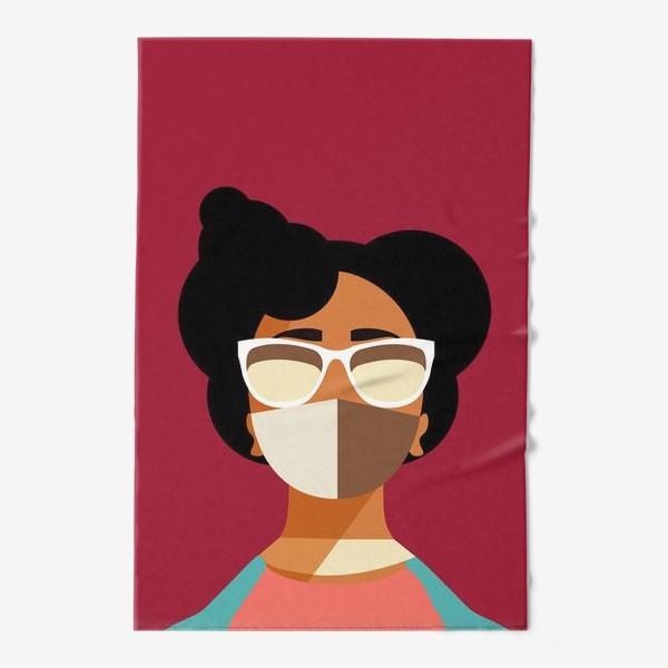 Полотенце «девушка в маске»