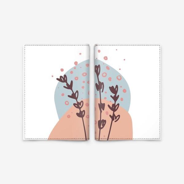 Обложка для паспорта «Цветы абстракция 2»