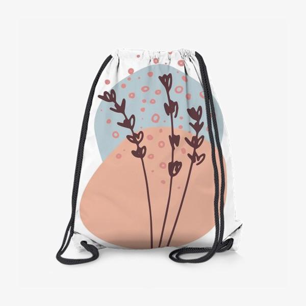 Рюкзак «Цветы абстракция 2»