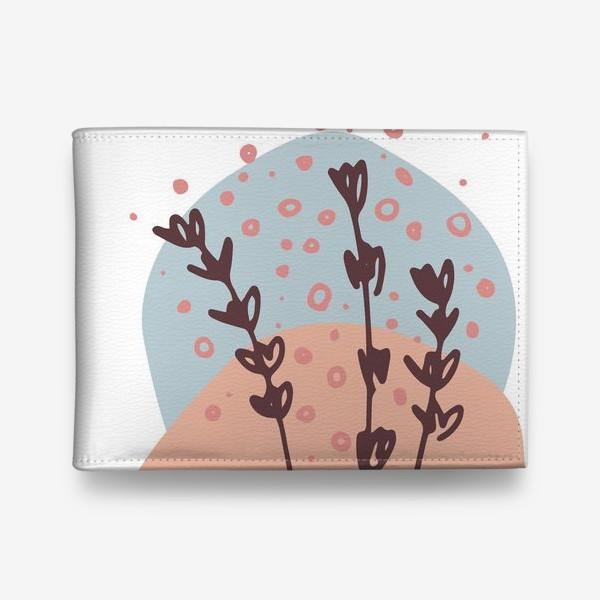 Кошелек «Цветы абстракция 2»