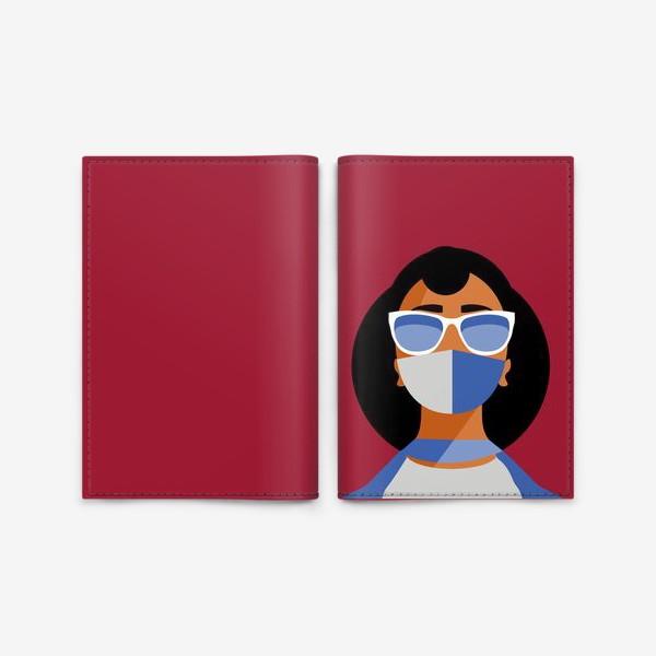 Обложка для паспорта «девушка в маске»