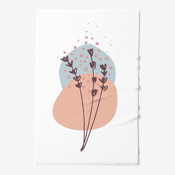 Полотенце «Цветы абстракция 2»