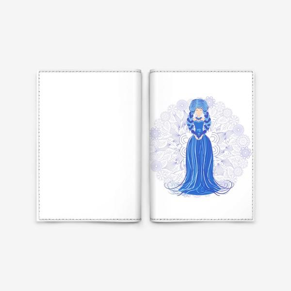 Обложка для паспорта «Знак зодиака Дева и цветочная мандала»