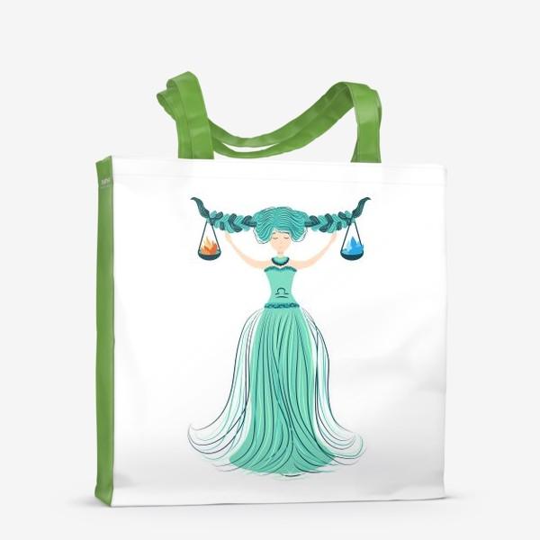 Сумка-шоппер «Знак зодиака Весы, огонь и вода»
