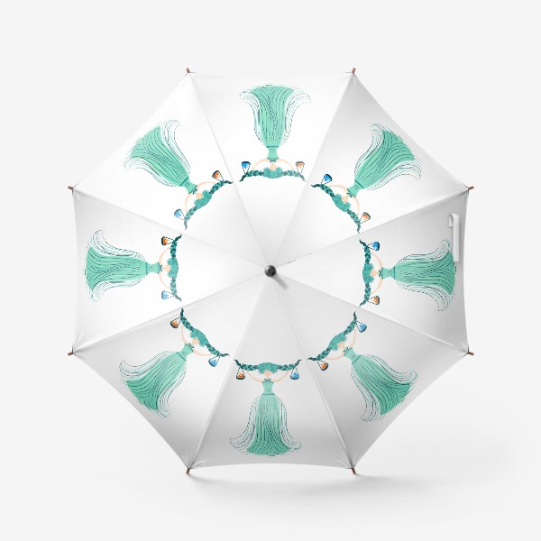 Зонт «Знак зодиака Весы, огонь и вода»