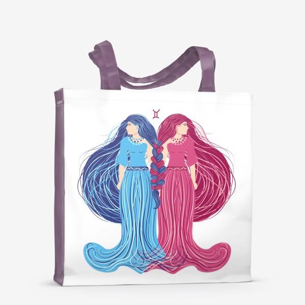 Сумка-шоппер «Знак зодиака Близнецы »